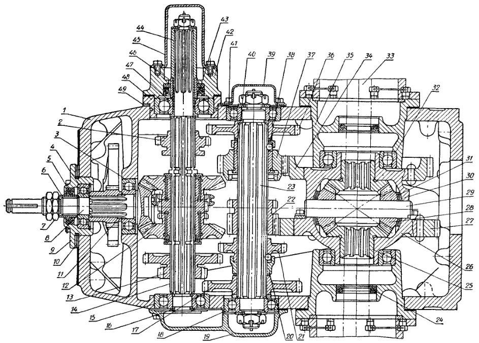 Схема коробки передач Т-25